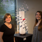 Monica Schuberth with origami artist, daughter Haley